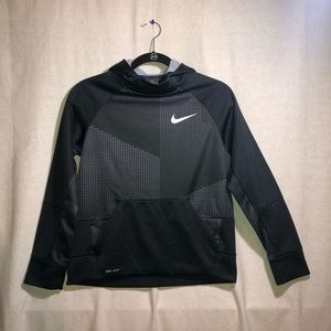 Nike Boys Black and Gray Hoodie Size L